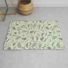 Green forest treasures. Rug
