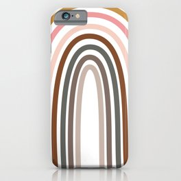 Whimsical Rainbow in Earthy Colors iPhone Case