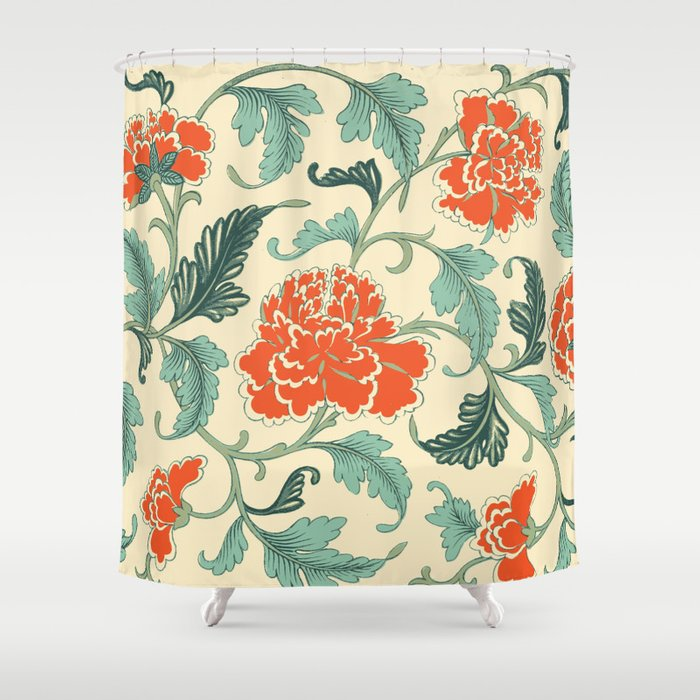 Chinese Peony Shower Curtain By Shadowisper