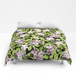 Apple Blossoms, Spring Flower, Springtime, Floral, Botanical, Pink Flowers Comforters