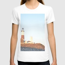 Sunset at Lighthouse in East Hampton T-shirt