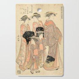 The Courtesans Maizumi Of The Daimonjiya Brothel Cutting Board