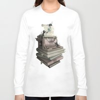 bookworm Long Sleeve T-shirts featuring Bookworm by BlancaJP