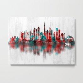 Dubai United Arab Emirates Skyline Metal Print