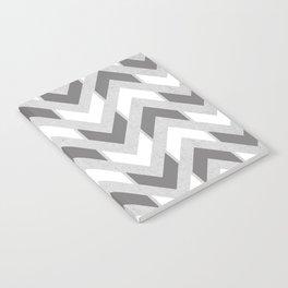 Grey & White Herringbone Chevron Notebook