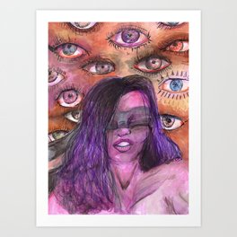 BLINDED EYES Art Print