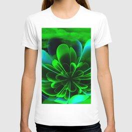 Abstract Green Flower T-shirt