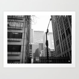 Stacked Buildings Art Print