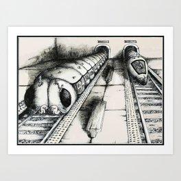 Subway Caterpillars  Art Print