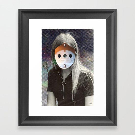 Plug & Play Woman - Model: Busch Jaeger Framed Art Print