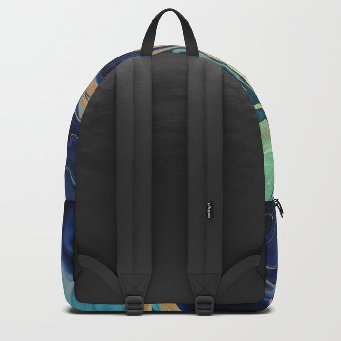 DRAMAQUEEN - GOLD INDIGO MARBLE Backpack