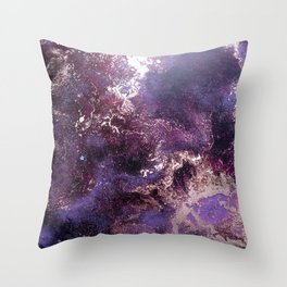 Purple Nebula Throw Pillow