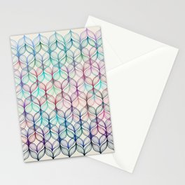 Mermaid's Braids - a colored pencil pattern Stationery Cards