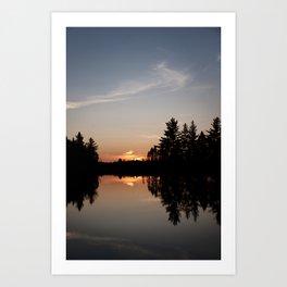 Northern Sunset 003 Art Print