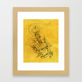 Candle Light Hope (Yellow Colors) Framed Art Print