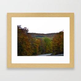 Fall Color Scenic Overlook Framed Art Print