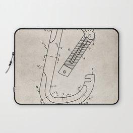 Rock Climbing Patent - Climber Art - Antique Laptop Sleeve
