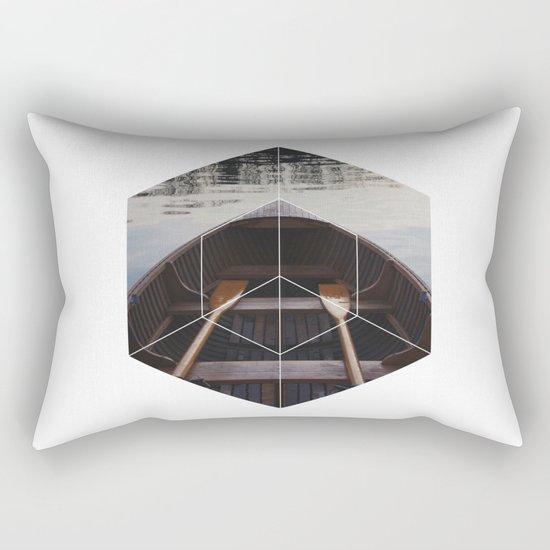 Peace of Mind Boat - Geometric Photography Rectangular Pillow