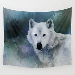 Spirit of White Wolf Wall Tapestry