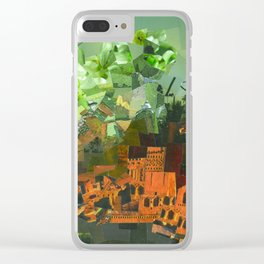"""""""Green Sky"""" / Ciel vert / atypic art - Collage by WHITEECO Ecologic design Clear iPhone Case"""