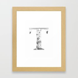 Letter T Framed Art Print