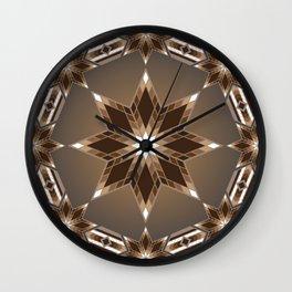 Morning Star Circle (Brown) Wall Clock