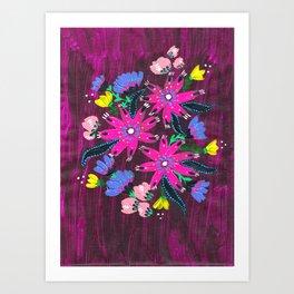Magenta Bouquet Art Print