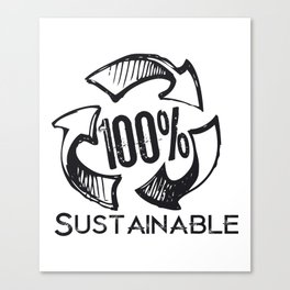 Sustainable Recycle Earth Day Canvas Print