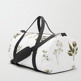 Delicate Floral Pieces Duffle Bag