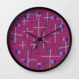 Croisement violet2 Wall Clock