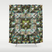 bands Shower Curtains featuring Structural Bands of Color   by Phil Perkins