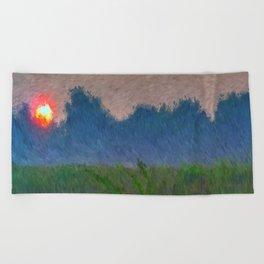 Morning Meadow Beach Towel