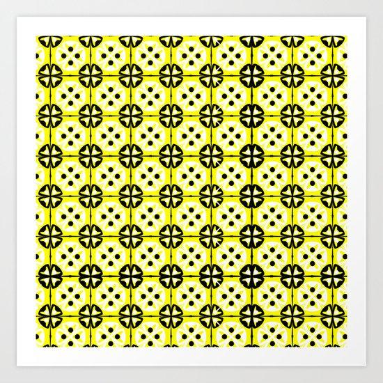 All-Over Yellow Fru Fru Art Print