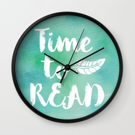 Time to Read - Green Wall Clock