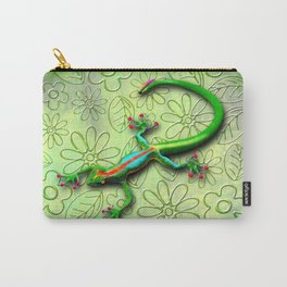 Gecko Lizard Rainbow Colors Carry-All Pouch