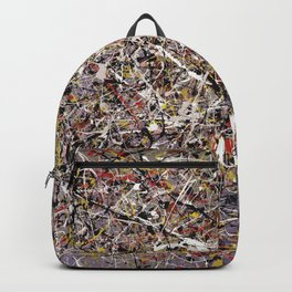 Intergalactic - Jackson Pollock style abstract painting by Rasko Backpack