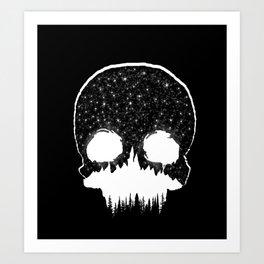 Mountains Skull Art Print