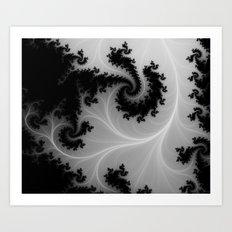 MONOCHROME ETERNITY Art Print