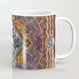 Diamond Cut Steel Coffee Mug