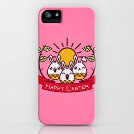 Happy Easter Happy Bunnies iPhone Case