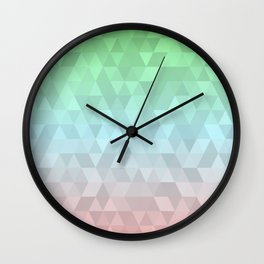 Pastel Ombre 2 Wall Clock