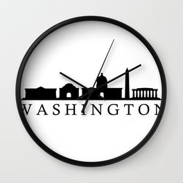 skyline washington Wall Clock