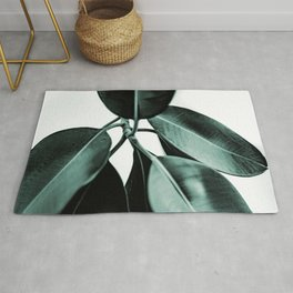 Minimal Rubber Plant Rug