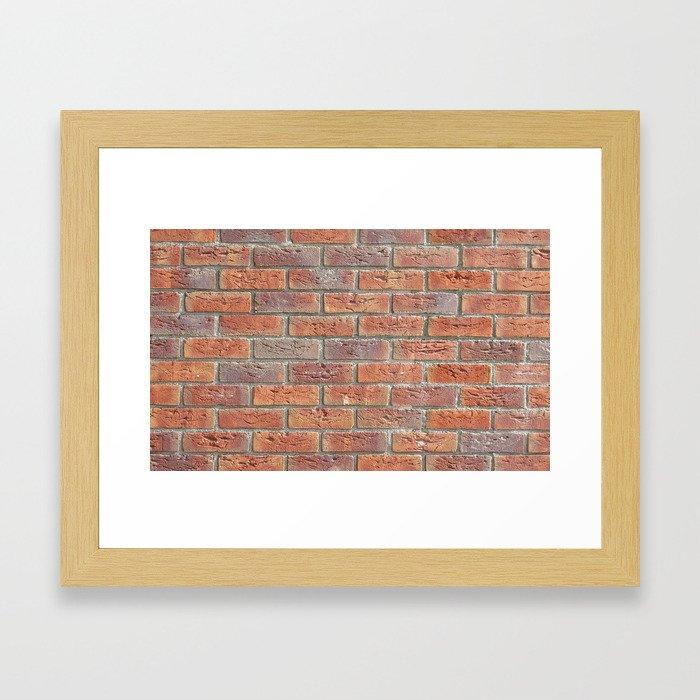 Brick wall texture photo Framed Art Print
