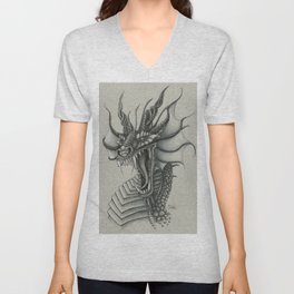 Dragon Bust  Unisex V-Neck