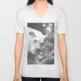 Lion in Love Unisex V-Neck