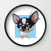chihuahua Wall Clocks featuring Chihuahua by joearc