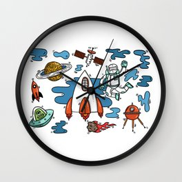Life From Space Wall Clock