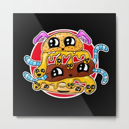 Fast Food FRENZY - The Burger Squeeb Mash Up! Metal Print