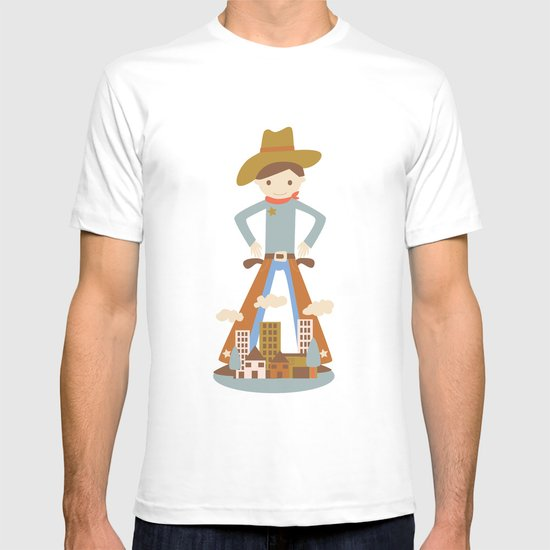 Cowboy in a lonely town T-shirt